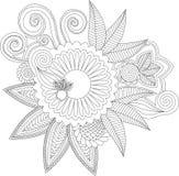 Индусский цветок стиля Стоковое фото RF