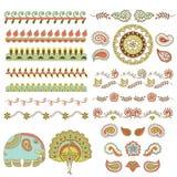 Индусский handmade комплект орнамента Стоковое Фото