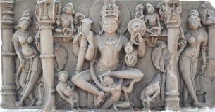 Индусское божество западное Madhya Pradesh Стоковое Изображение RF