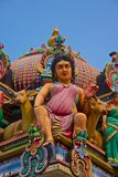 Индусское божество на крыше виска Стоковые Изображения