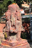 Индусское божество на Bhaktapur. Стоковое фото RF