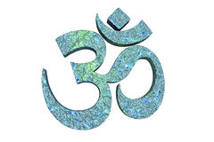 Индусское слово читая символ Om или Aum Стоковое Изображение RF
