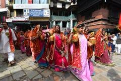 Индусское торжество в Непале Стоковое Фото