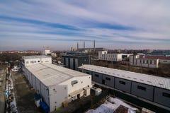 Индустриальная зона, Бухарест Стоковое Изображение