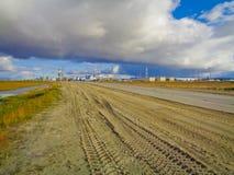 Индустриальная зона в далеком севере Стоковая Фотография RF