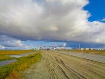 Индустриальная зона в далеком севере Стоковые Фотографии RF
