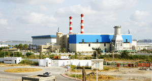 Индустриальная зона в порте Ла Goulette Стоковое фото RF
