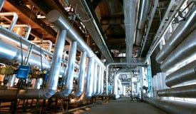Индустриальная зона, стальные трубопроводы и трубопроводы Стоковая Фотография RF