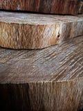 Индустрия вырезывания пиломатериала или дерева с деревянными дисками Стоковая Фотография RF