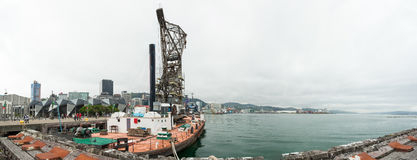 Индустрия в гавани Веллингтона, Новой Зеландии стоковые изображения rf
