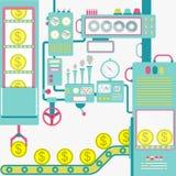 Индустрия денег иллюстрация штока