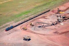 индустрия земли andalusia повреждает минируя Испанию Стоковое фото RF