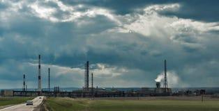Индустрия и экологичность Стоковая Фотография