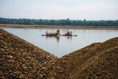 Индустрия песка Стоковая Фотография