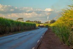 Индустрия сахарного тростника фабрики Стоковые Изображения