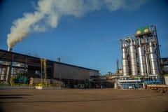 Индустрия сахарного тростника фабрики Стоковые Изображения RF