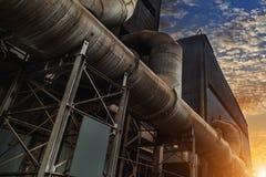 Индустрия стальной фабрики Стоковые Изображения