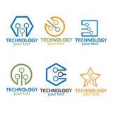 Индустрия технологии собрания логотипа Стоковые Изображения RF