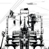 индустрия 4 фабрик Стоковое фото RF