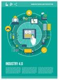 индустрия 4 иллюстрация вектора