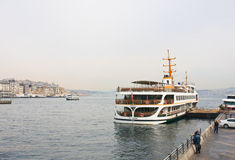 индюк Стамбул Койка на Bosphorus Стоковое фото RF