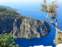 Индюк fethiye ущелья Butterfly Valley глубокий Стоковое Изображение
