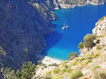Индюк fethiye ущелья Butterfly Valley глубокий Стоковые Изображения