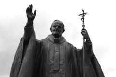 Иоанн Павел II. статуя стоковое изображение