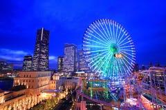 Иокогама на сумраке Стоковое Изображение