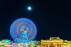 Иокогама, Япония - 24,2015 -го ноябрь: Колесо Ferris на мире cosmo стоковое изображение