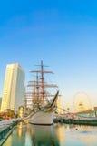 ИОКОГАМА, ЯПОНИЯ - 24-ое ноября: Япония Maru в Иокогама, Японии дальше иллюстрация штока
