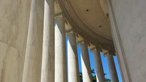 Ионные столбцы мемориала Jefferson в Вашингтоне, d C стоковое изображение