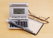 ипотека вычисления счета стоковое фото rf