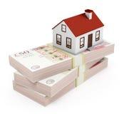Ипотека дома - фунты Стоковые Фотографии RF