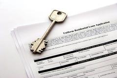 ипотечный кредит документа Стоковые Фотографии RF