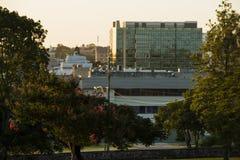 Ипсвич, Австралия - среда 16-ое январь 2018: Взгляд города CBD Ипсвича в после полудня в среда 16-ое январь 2018 Стоковые Изображения RF