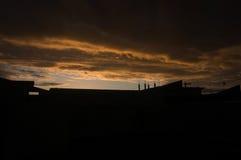 Иракский горизонт захода солнца Стоковые Фотографии RF