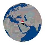 Ирак на политическом глобусе Стоковые Фото