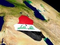 Ирак с флагом на земле Стоковое фото RF