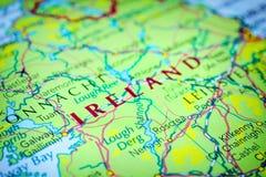 Ирландия на карте стоковое изображение rf