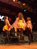 Ирландские танцоры выполняют на клубе MI 16-03-2018 живой музыки Стоковая Фотография RF