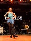 Ирландские танцоры выполняют на клубе MI 16-03-2018 живой музыки Стоковое Изображение