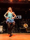 Ирландские танцоры выполняют на клубе MI 16-03-2018 живой музыки Стоковое Изображение RF