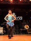 Ирландские танцоры выполняют на клубе MI 16-03-2018 живой музыки Стоковые Фотографии RF