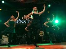 Ирландские танцоры выполняют на клубе MI 16-03-2018 живой музыки Стоковая Фотография