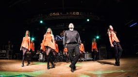 Ирландские танцоры выполняют на клубе MI 16-03-2018 живой музыки Стоковое Фото
