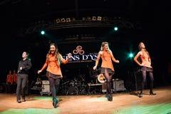 Ирландские танцоры выполняют на клубе MI 16-03-2018 живой музыки Стоковые Фото