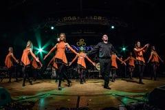 Ирландские танцоры выполняют на клубе MI 16-03-2018 живой музыки Стоковые Изображения RF