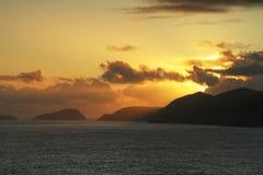ирландский заход солнца Стоковая Фотография RF