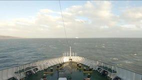 Ирландский паром покидая гавань Дублина - Ирландия видеоматериал